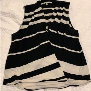 Sleeveless wrap style top